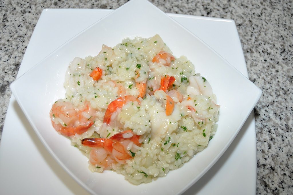 risotto italien aux fruits de mer les recettes de cuisine. Black Bedroom Furniture Sets. Home Design Ideas